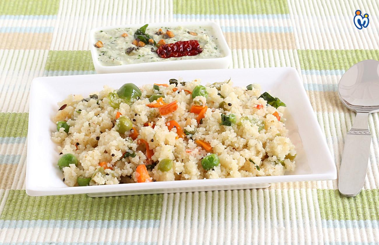 Upma healthy breakfast dish for pregnant women